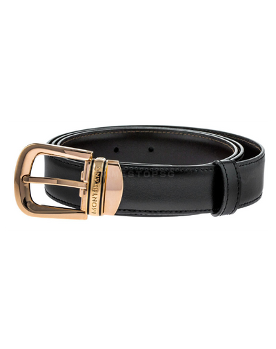 Montblanc - Classic Trapeze Buckle Reversible B/B Leather Belt ( 109737 )