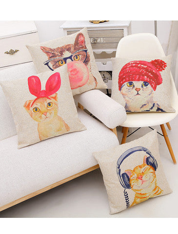 Cute Cat Pillow Case