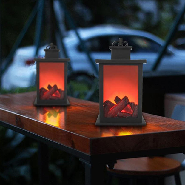 Flameless Fireplace Lantern