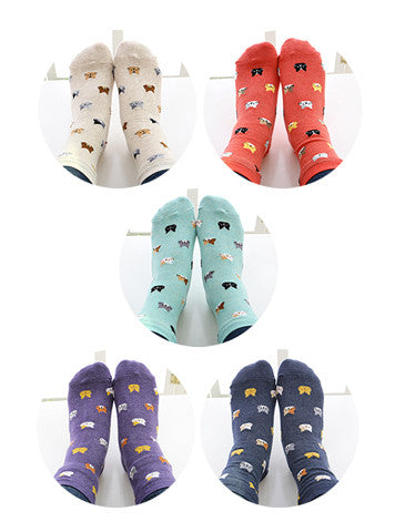 Crazy Cat Pattern Socks