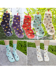 Crazy Cat Pattern Socks - 50% OFF TODAY