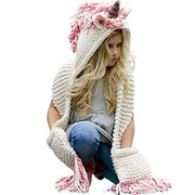 Girls Unicorn Hooded Scarf