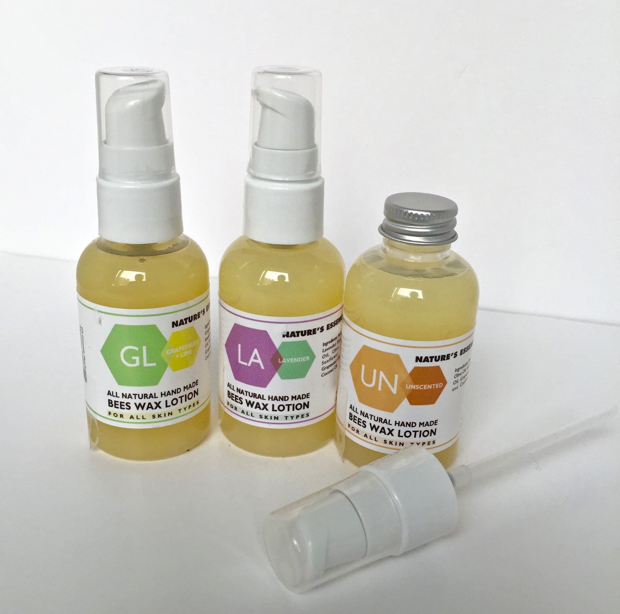 """All Natural """"One-For-All"""" Light-Weight Bees Wax Lotion"""
