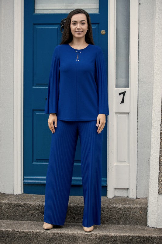 Royal Blue Wide Leg Trousers and Top Co-ord Set