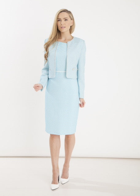 Coco Doll Blue Two Piece Jacket And Dress Suit