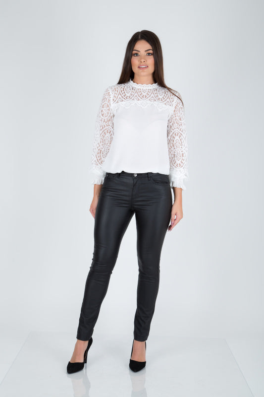 Ada Black Coated Skinny Jeans
