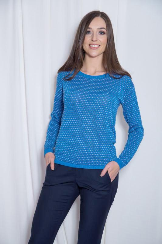 Blue Metallic Jumper