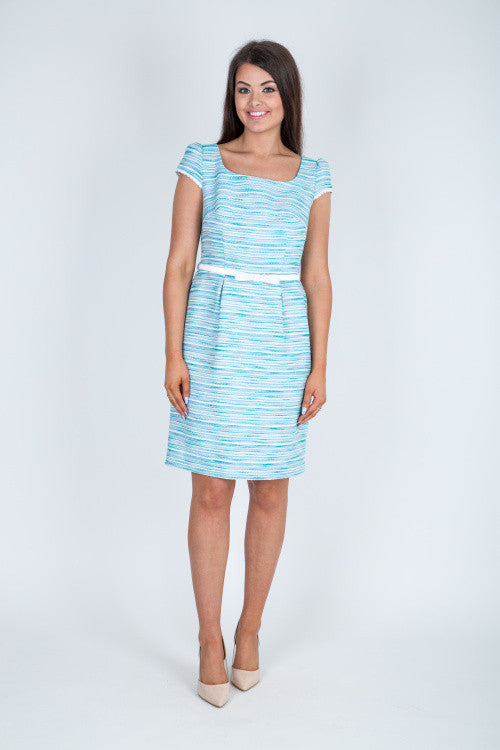006ccacbd72e Blue Striped Shift Dress