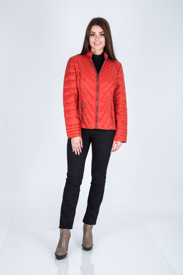 C-Ro Etage Quilted Down Jacket, Burnt Orange