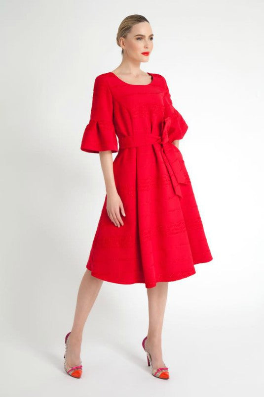 Red Fit and Flare Lady Dress