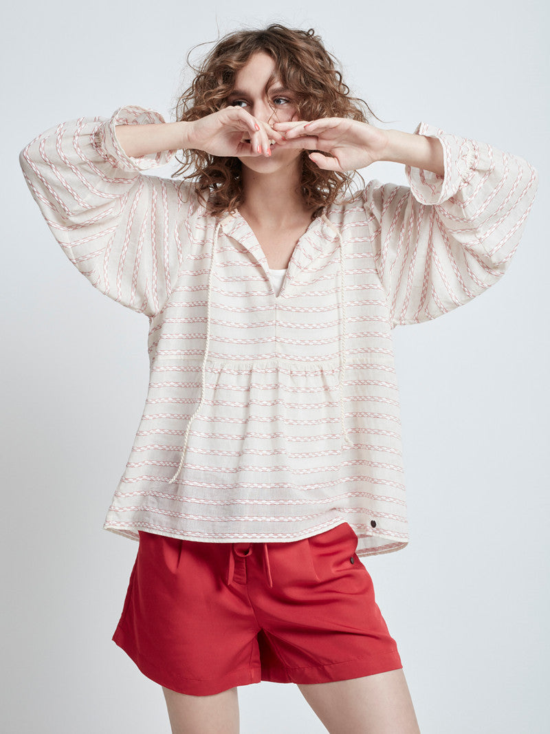 Corinna Summer Cotton Blouse - Lutsia Boutique