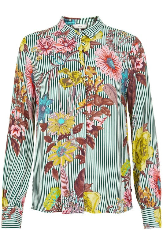 Frayda Floral Print Shirt - Lutsia Boutique