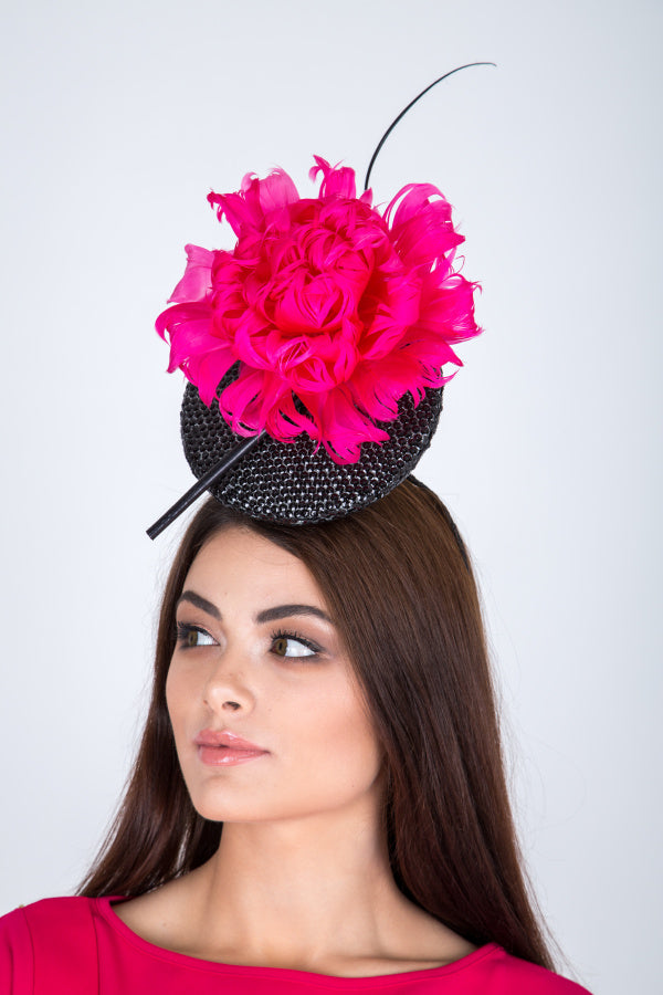 Lana Black and Pink Fascinator