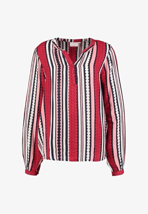 Nobeliss Long Sleeve Blouse Red - Lutsia Boutique