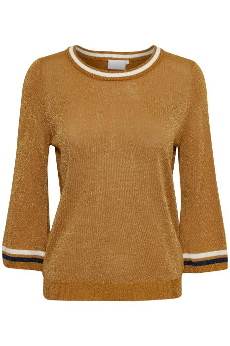 Tabita Metallic Gold Jumper - Lutsia Boutique