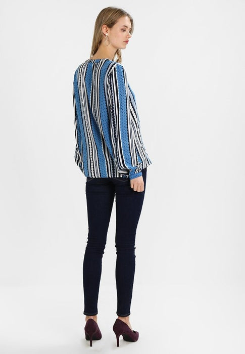 Nobeliss Long Sleeve Blouse Blue - Lutsia Boutique