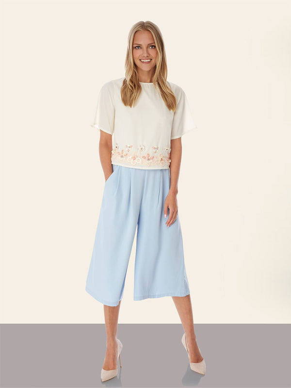 Wide Leg Culottes - Lutsia Boutique