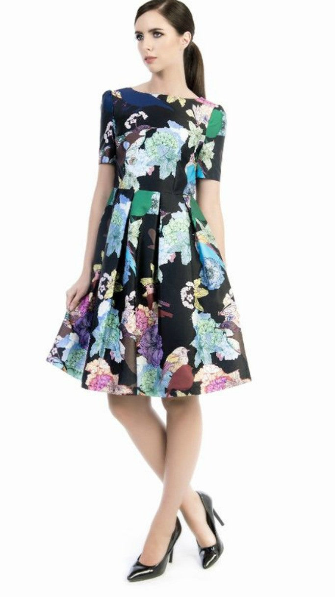 Darcy Fit and Flare Issa Print Dress
