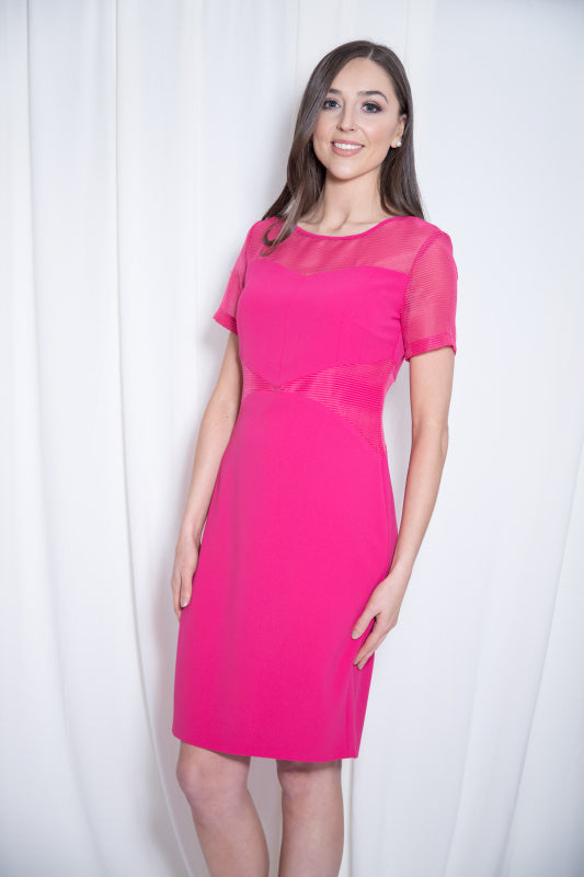 Debs Fuchsia Pink Pencil Dress - Lutsia Boutique