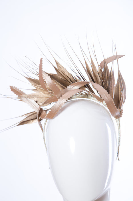 Gold Feather Crown Heapiece