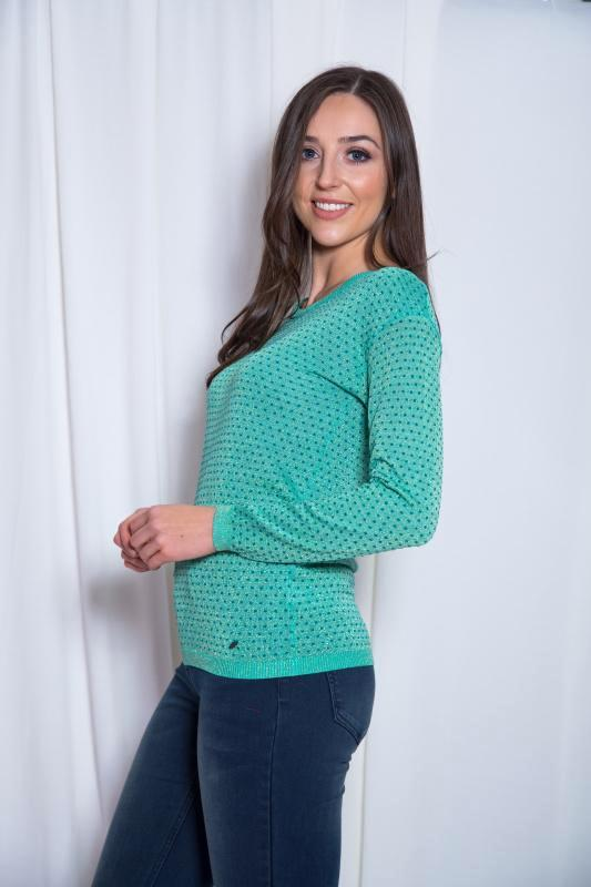 Green Metallic Jumper