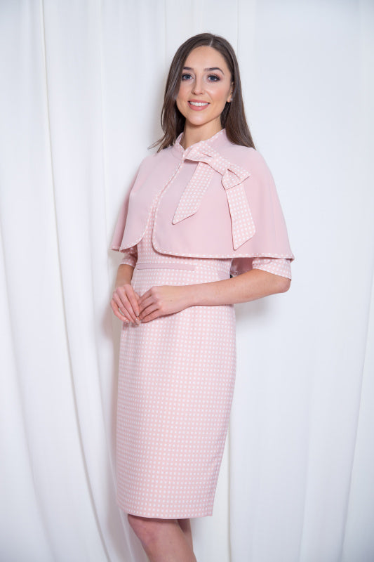 c94a8c2d7038 Blush Pink Pencil Dress   Cape