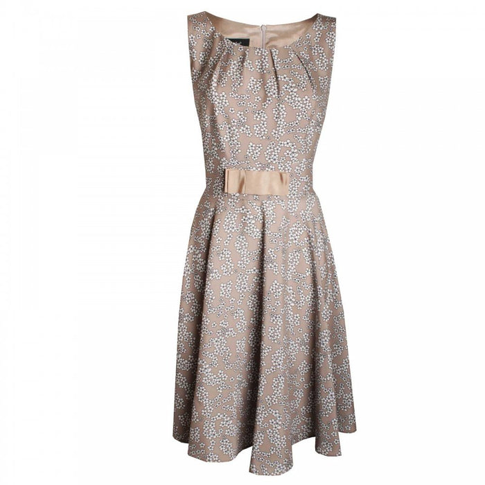 Flower print A Line Sleeveless Dress