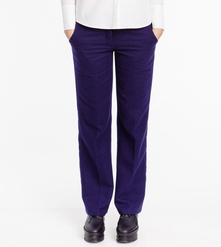 211ccea65d6 Blue Purple Tailored Straight Trousers