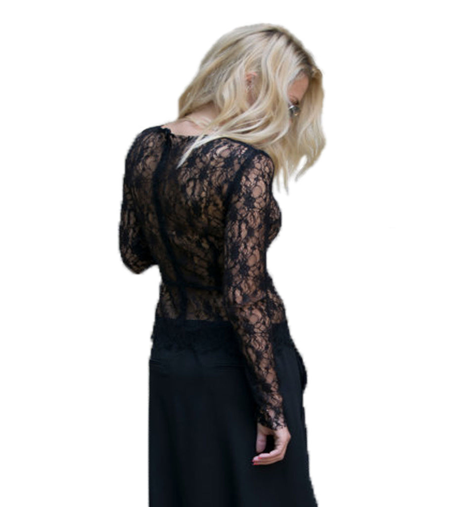 decaa68c6b5a Black Lace Fitted Shirt - CURATORZ