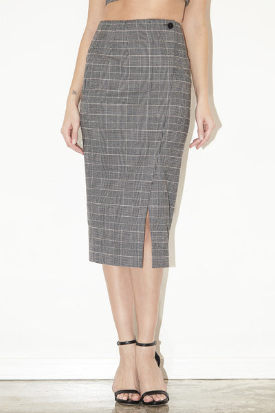 grey patterned pencil skirt the luxury arcade
