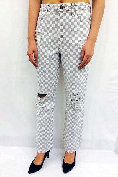 Cult checkerboard print