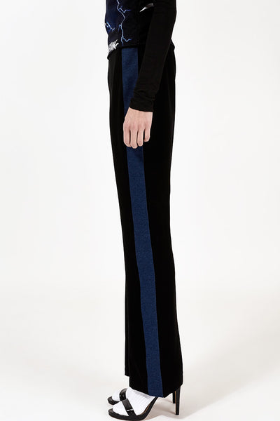 Denim strip pants (Dark)
