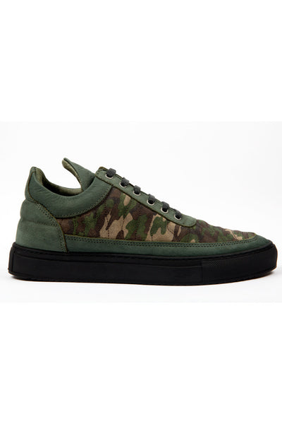 Low top quilted camo