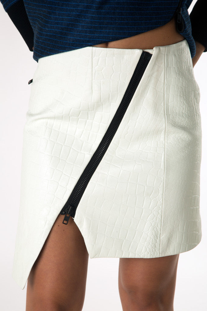 Wrap zip mini skirt