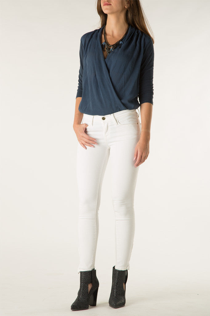 Denim Crop Zip Pant