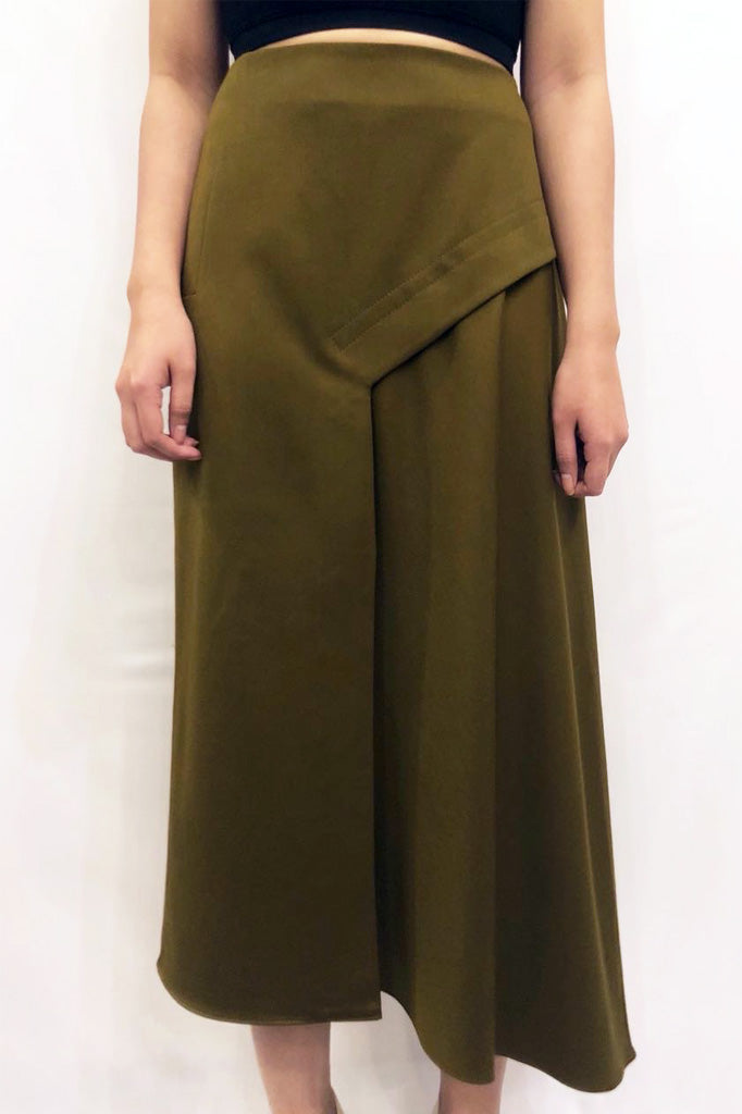 Viscose twill skirt