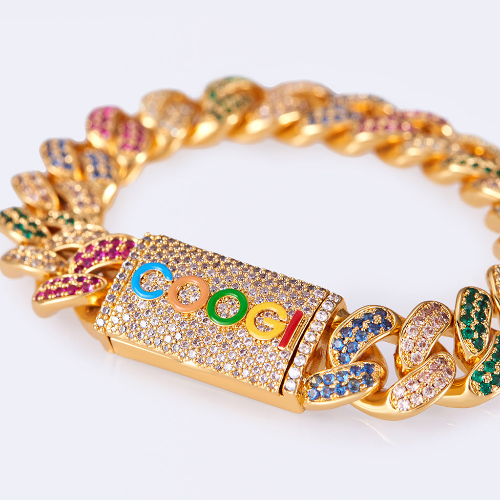 COOGI X Aporro Beating Cuban Link Bracelet, Ltd Ed - Yellow Gold