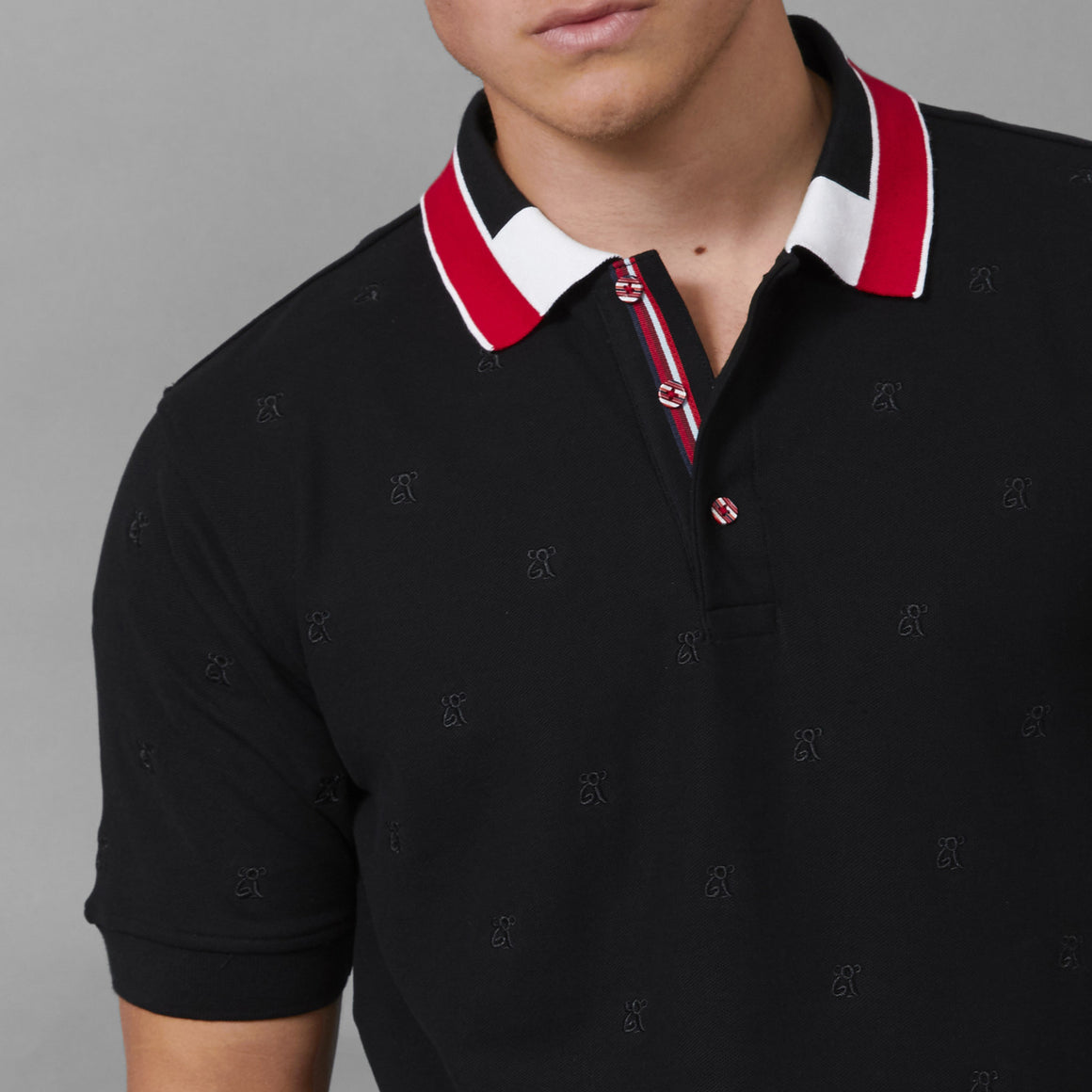 COOGI All Over Koala Polo - Black