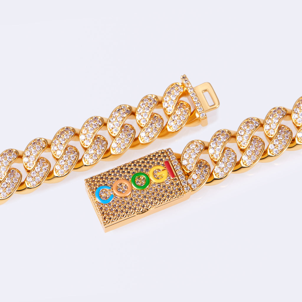 COOGI X Aporro Basic Cuban Link Chain, Ltd Ed - Yellow Gold