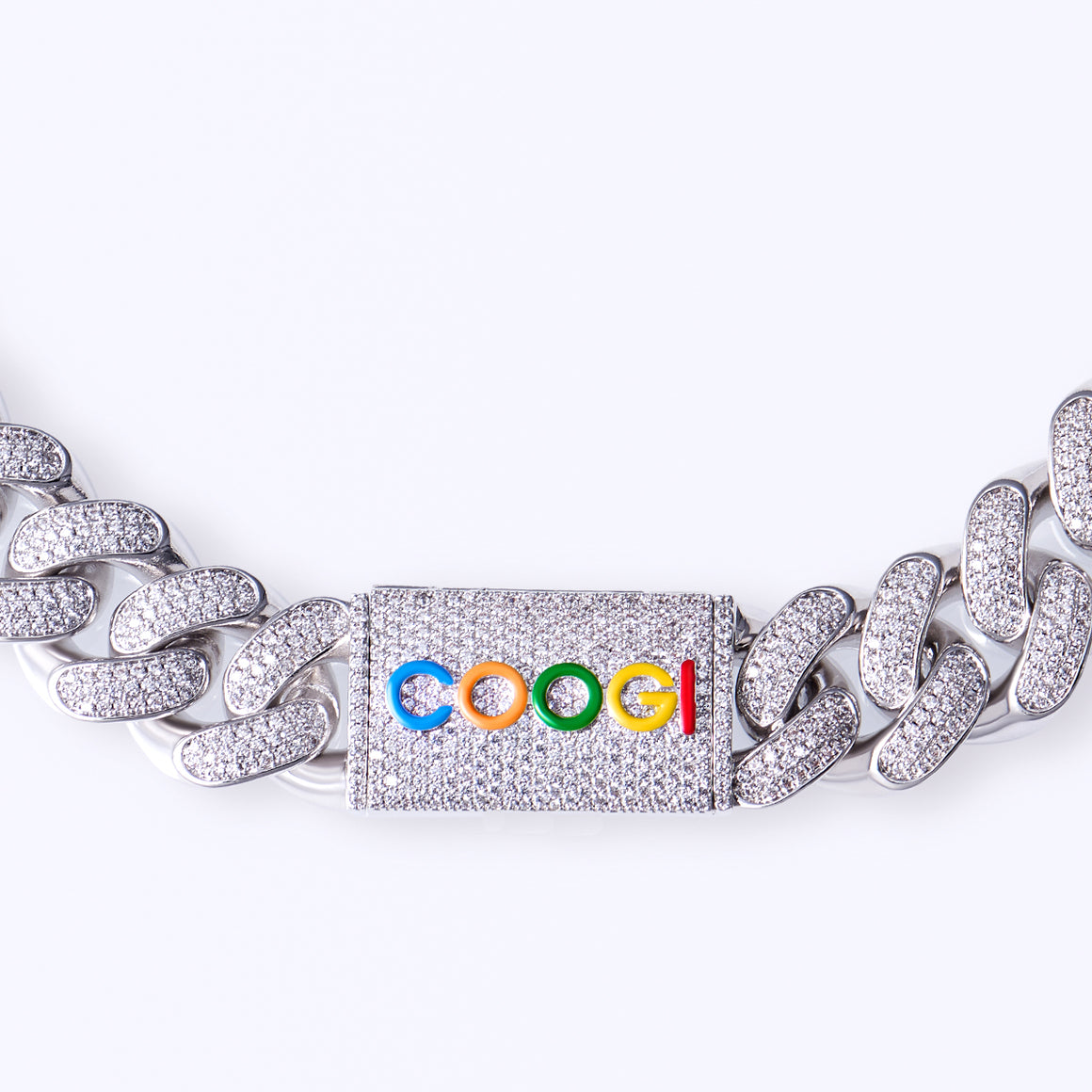 COOGI X Aporro Basic Cuban Link Chain, Ltd Ed - Heavy - White Gold