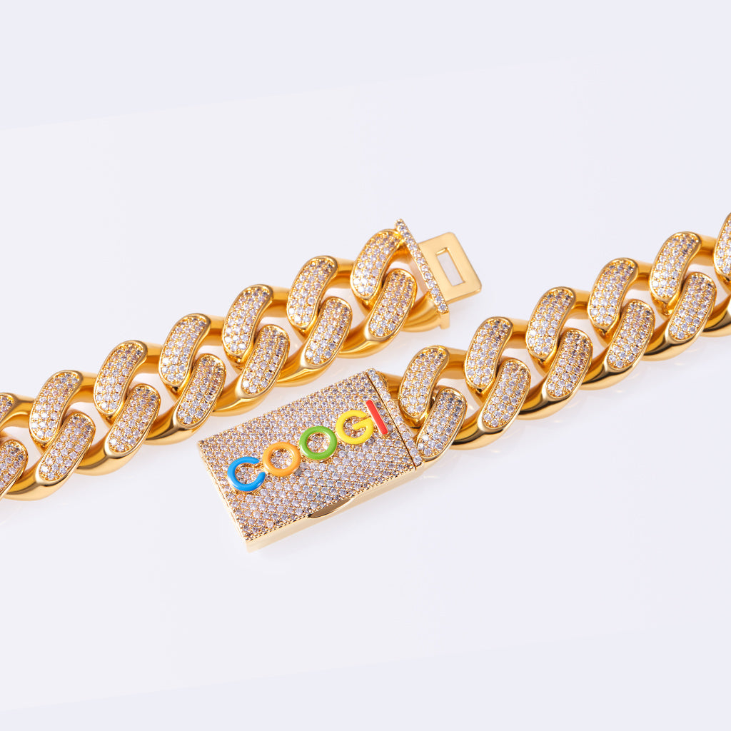 COOGI X Aporro Basic Cuban Link Chain, Ltd Ed - Heavy - Yellow Gold