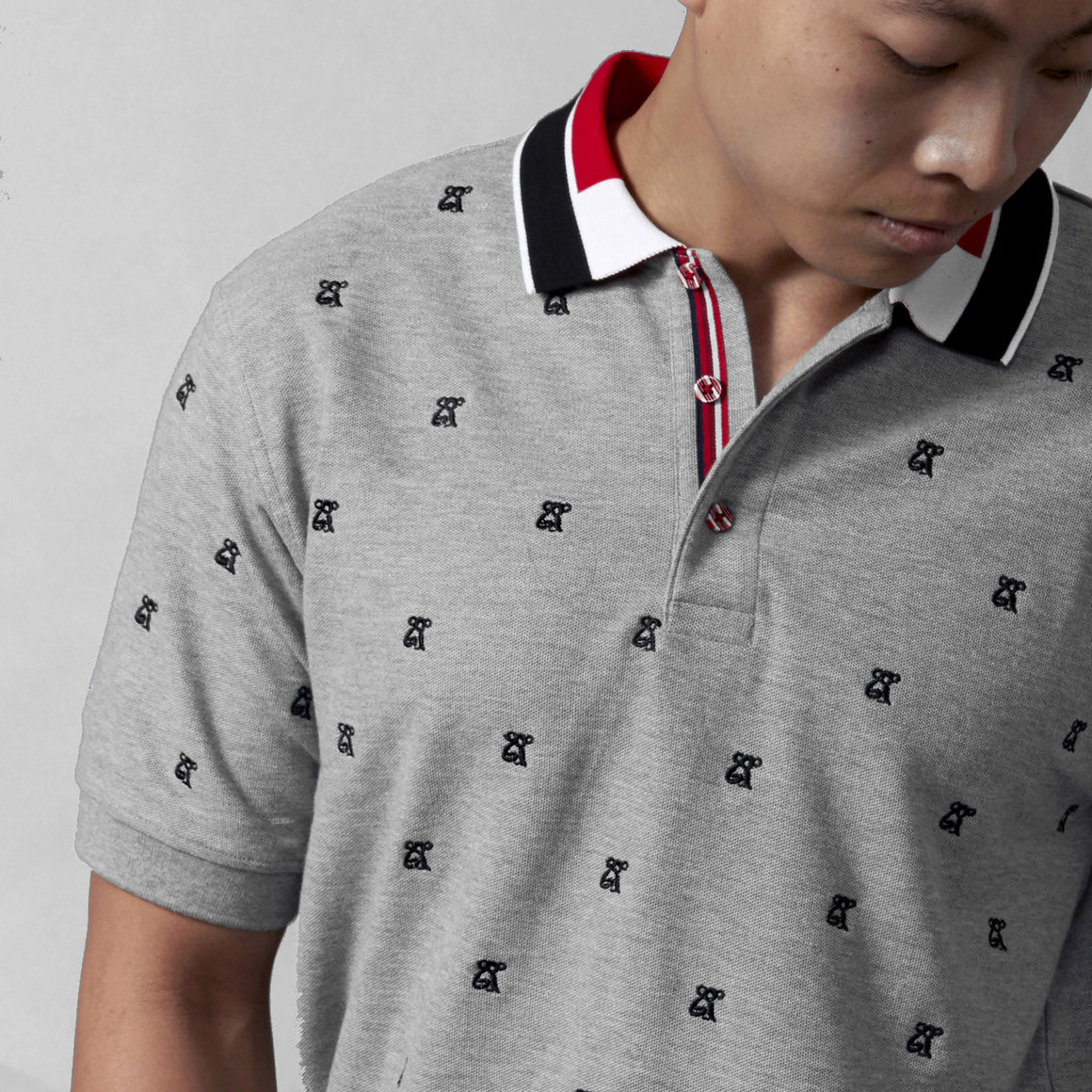 COOGI All Over Koala Polo - Heather Grey