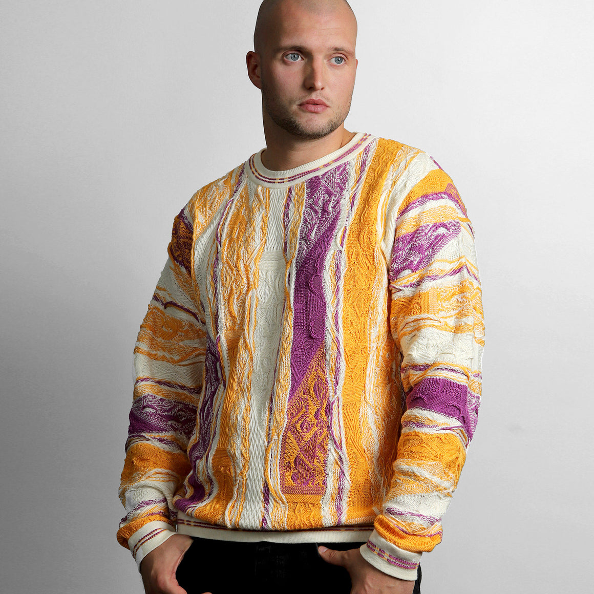 COOGI PURPLE AND GOLD 50 CREWNECK, LIMITED EDITION