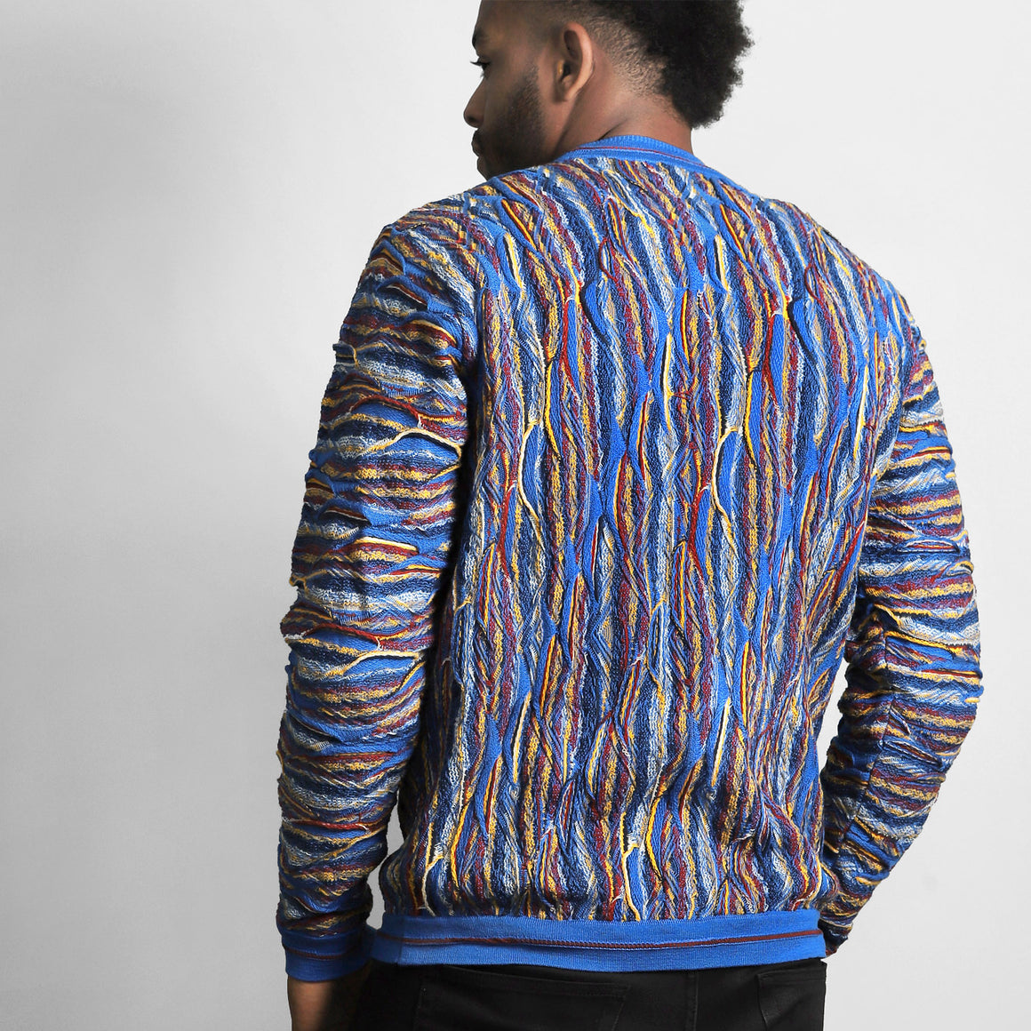 COOGI LONGREEF DEEP BLUE CREWNECK, LIMITED EDITION
