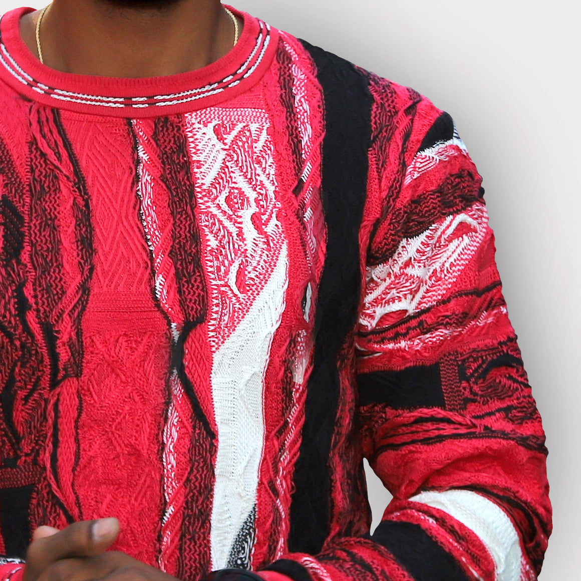 COOGI RED AND BLACK 50 CREWNECK, LIMITED EDITION