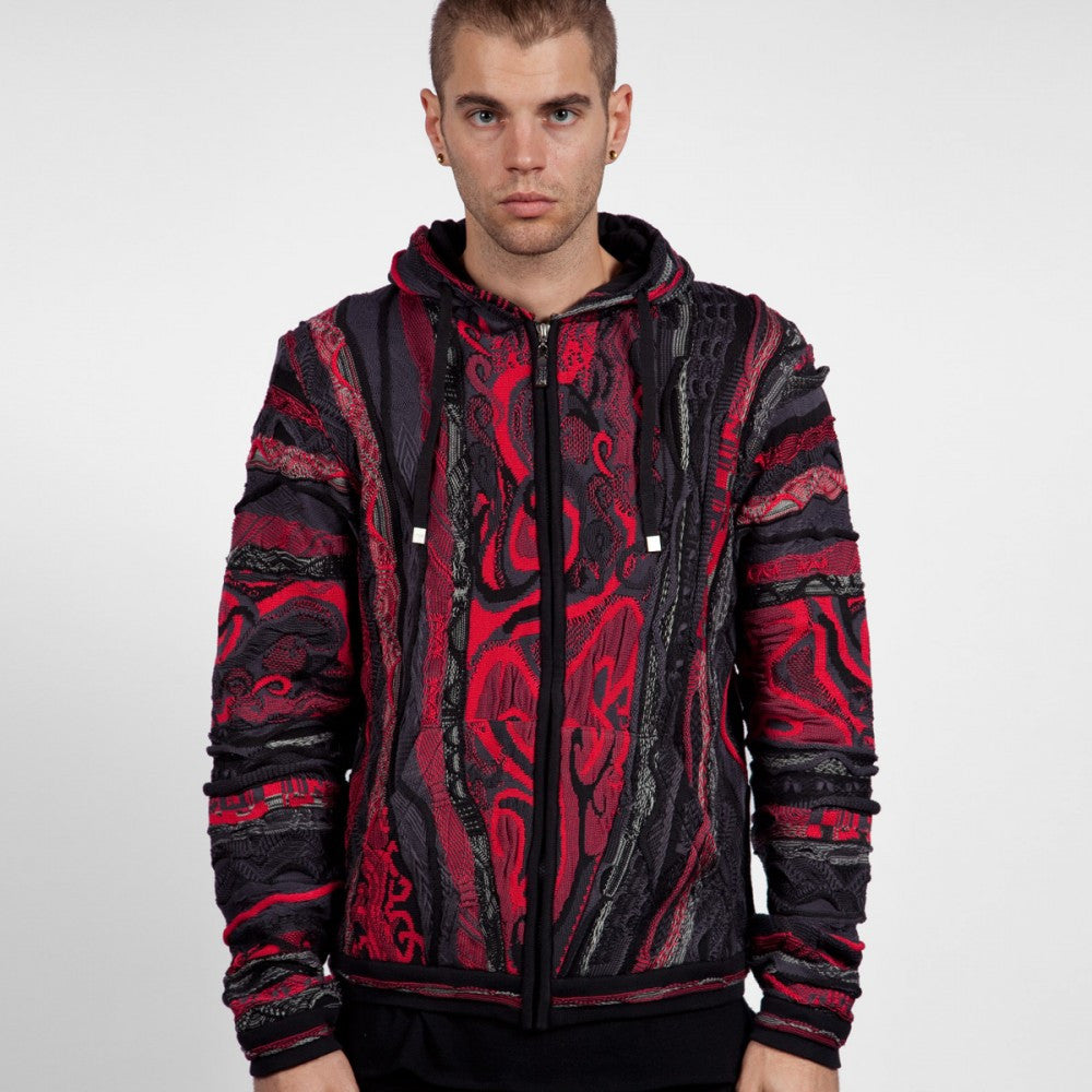 COOGI BIGGIE SMALLS ZIP HOODY BLACK & RED