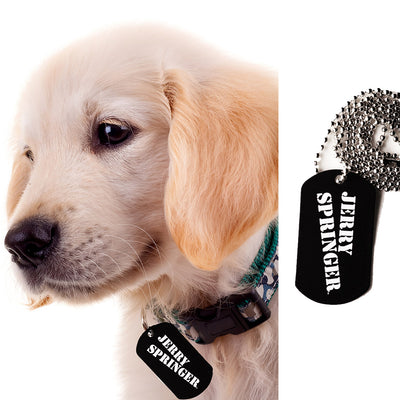 Jerry Springer Dog Tag Necklace