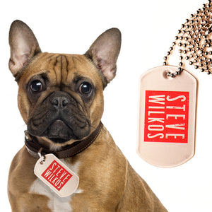 Steve Wilkos Dog Tag Necklace