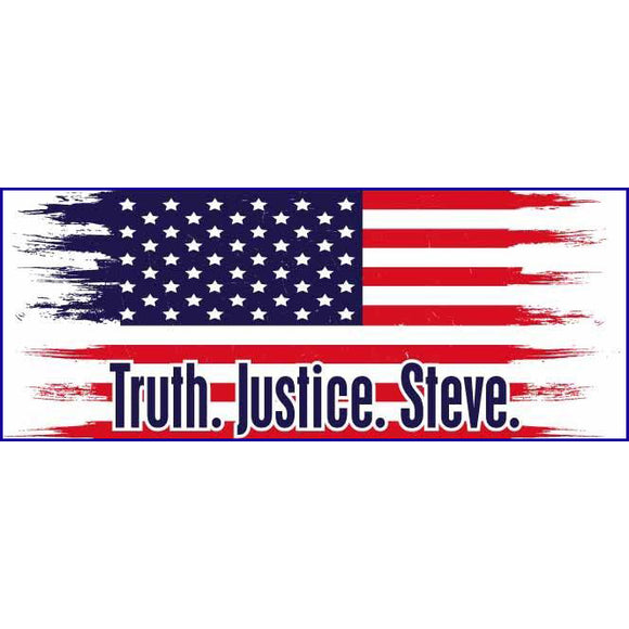 Truth. Justice. Steve. Sticker