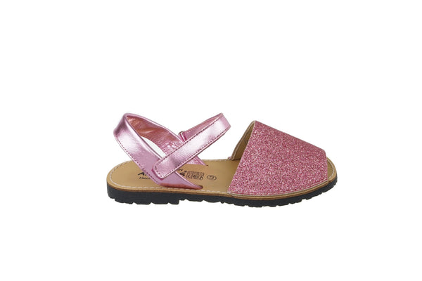 Blue Sparkle Girls Avarca Spanish Sandals